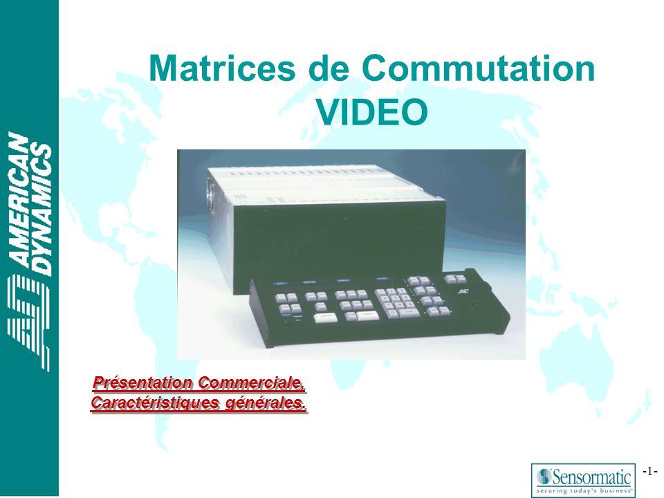 ® -1- Matrices de Commutation VIDEO Présentation Commerciale, Caractéristiques générales.