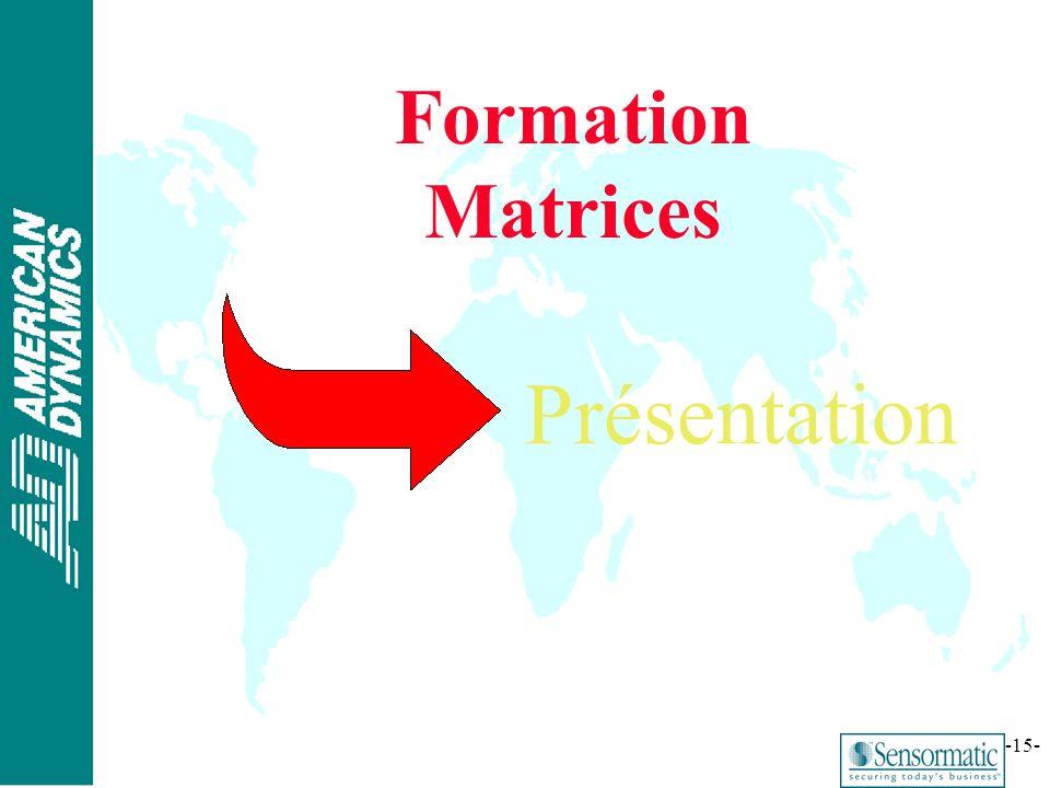 ® -15- Formation Matrices Présentation