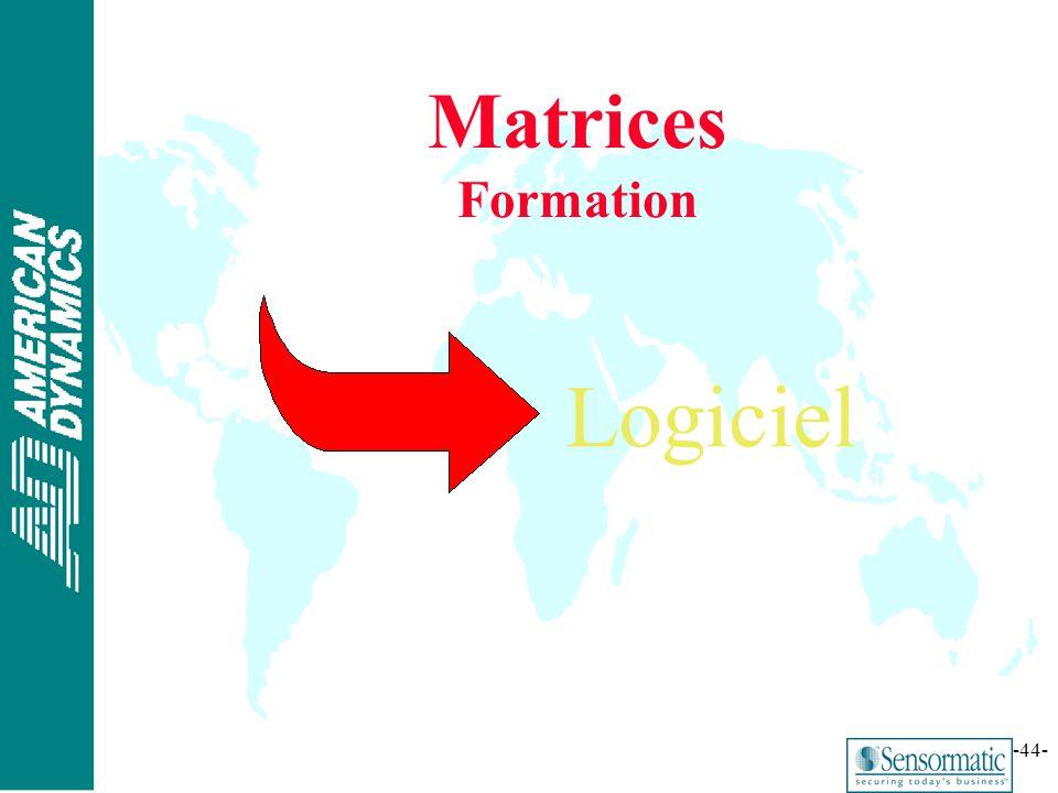® -44- Matrices Formation Logiciel