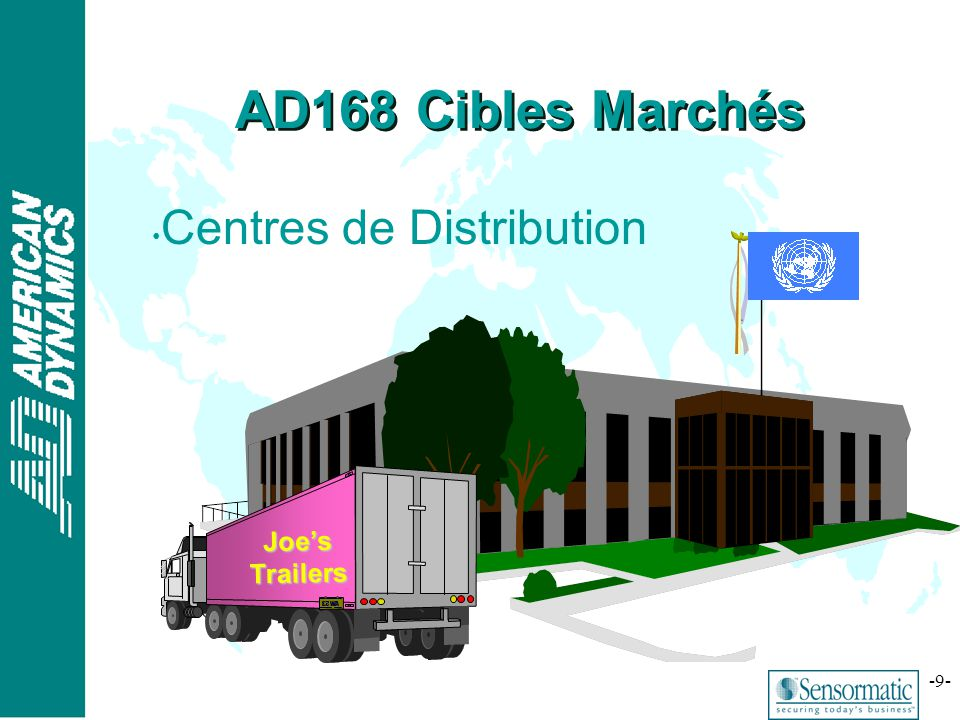 ® -9- AD168 Cibles Marchés Centres de Distribution Joes Trailers