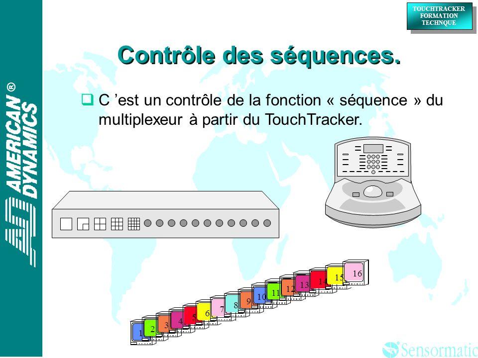 ® ® TOUCHTRACKER FORMATION TECHNQUE TOUCHTRACKER FORMATION TECHNQUE Contrôle des séquences.