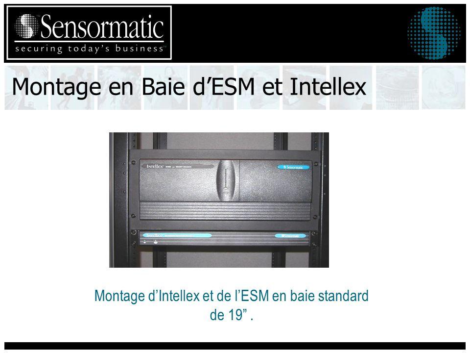 Montage en Baie dESM et Intellex Montage dIntellex et de lESM en baie standard de 19.