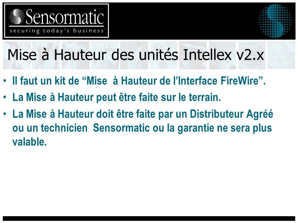 Mise à Hauteur des unités Intellex v2.x Il faut un kit de Mise à Hauteur de lInterface FireWire.