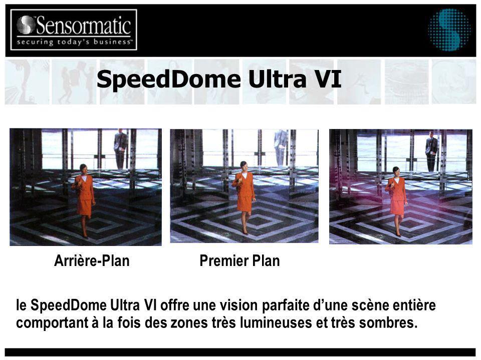 le SpeedDome Ultra VI offre une vision parfaite dune scène entière comportant à la fois des zones très lumineuses et très sombres.