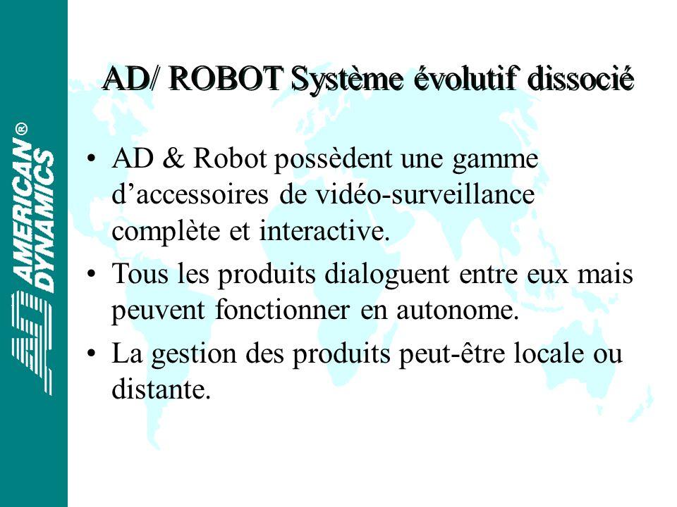 ® AD/ ROBOT Système évolutif dissocié AD & Robot possèdent une gamme daccessoires de vidéo-surveillance complète et interactive.