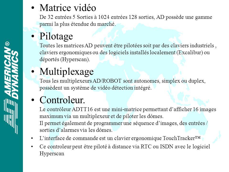® Matrice vidéo De 32 entrées 5 Sorties à 1024 entrées 128 sorties, AD possède une gamme parmi la plus étendue du marché.