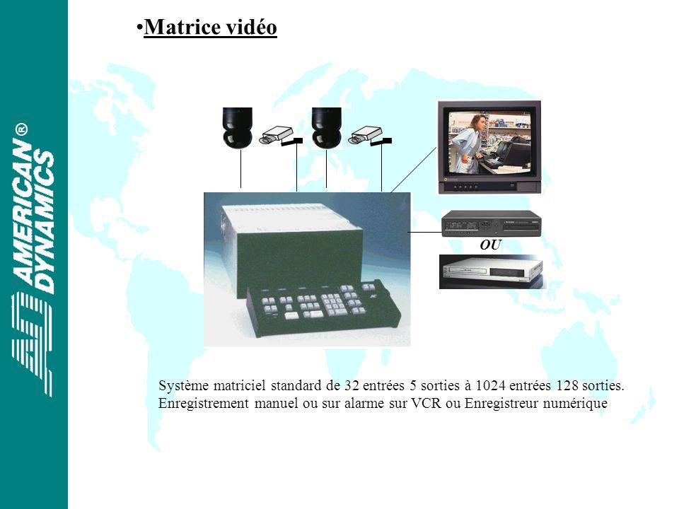 ® Matrice vidéo OU Système matriciel standard de 32 entrées 5 sorties à 1024 entrées 128 sorties.