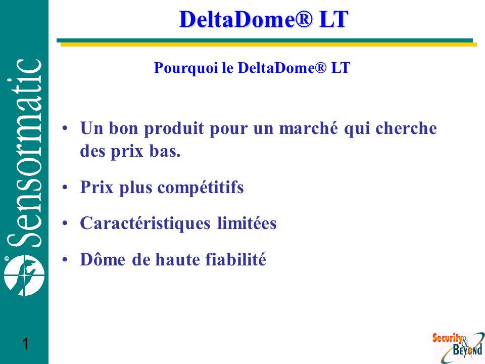 ® 1 DeltaDome® LT Un bon produit pour un marché qui cherche des prix bas.