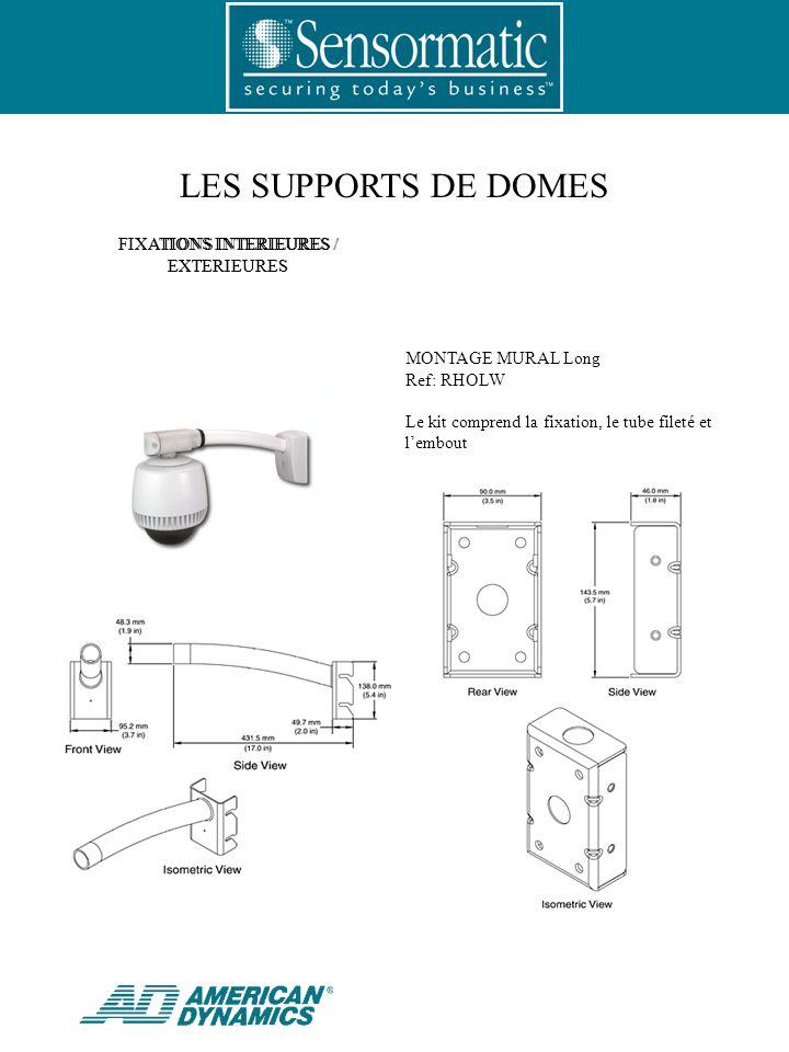 LES SUPPORTS DE DOMES MONTAGE DANGLE Ref: RHOWCA Complément pour RHOLW et RHOSW.