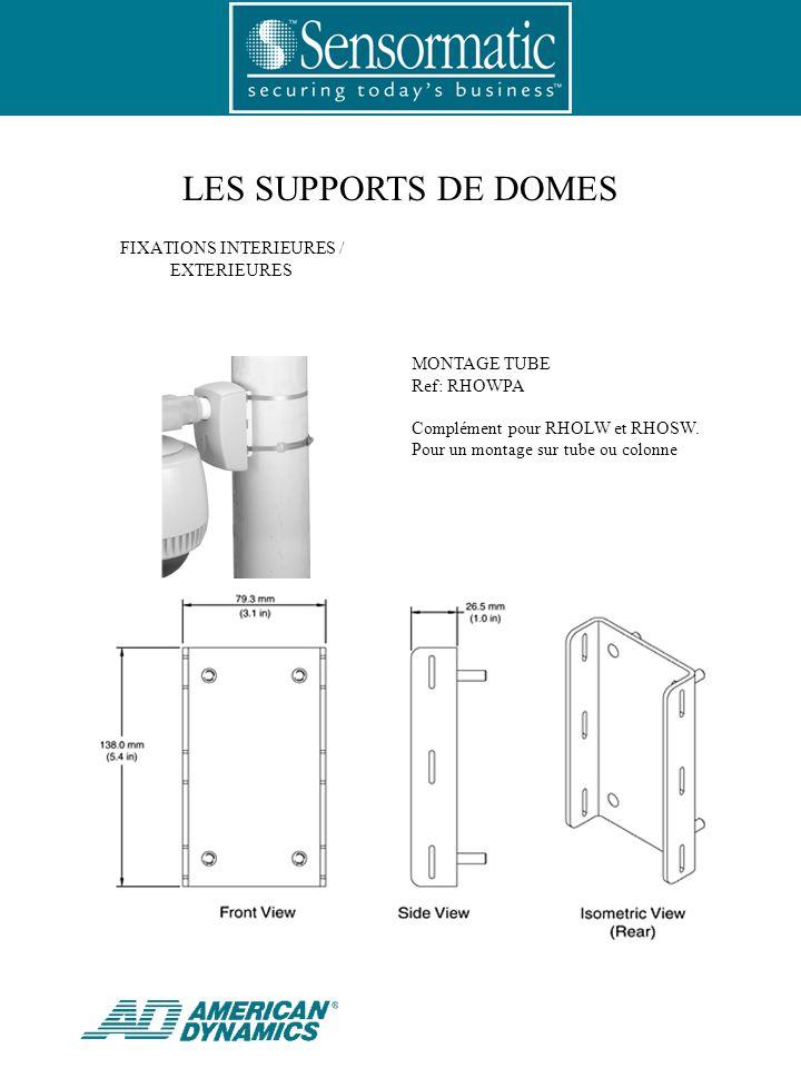LES SUPPORTS DE DOMES MONTAGE TUBE Ref: RHOWPA Complément pour RHOLW et RHOSW.