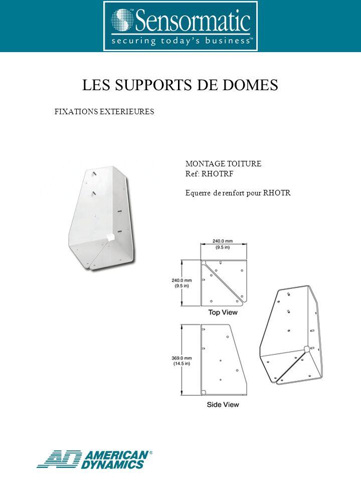 LES SUPPORTS DE DOMES MONTAGE TOITURE Ref: RHOTRF Equerre de renfort pour RHOTR FIXATIONS EXTERIEURES