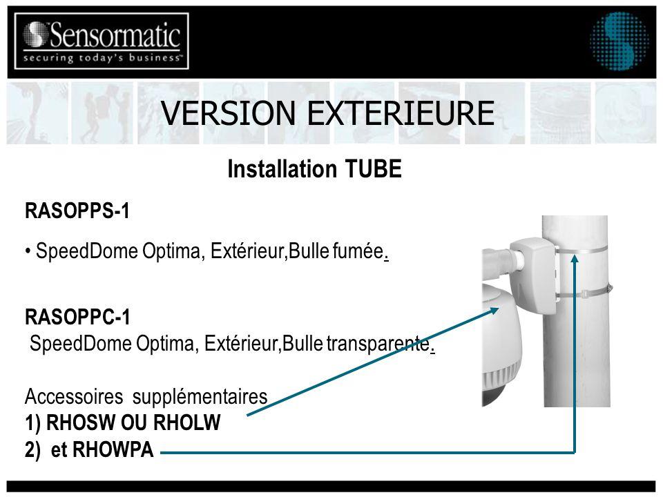 VERSION EXTERIEURE Installation TUBE RASOPPS-1 SpeedDome Optima, Extérieur,Bulle fumée.