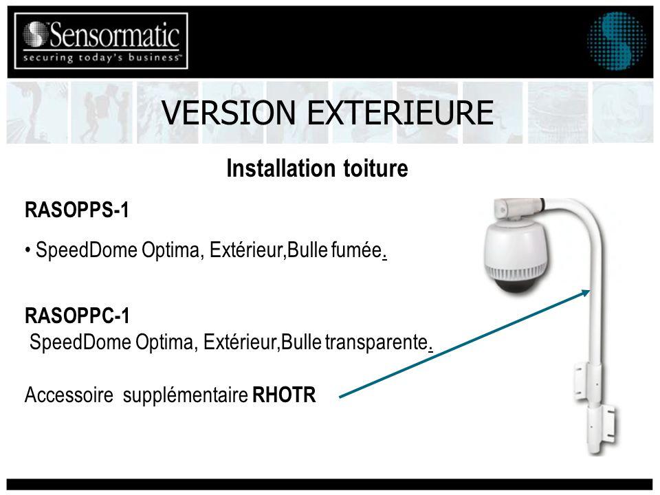 Installation toiture VERSION EXTERIEURE RASOPPS-1 SpeedDome Optima, Extérieur,Bulle fumée.