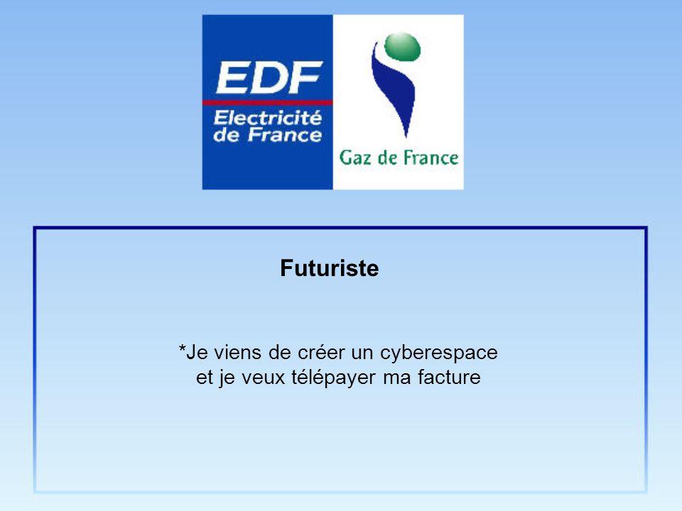 *Je viens de créer un cyberespace et je veux télépayer ma facture Futuriste