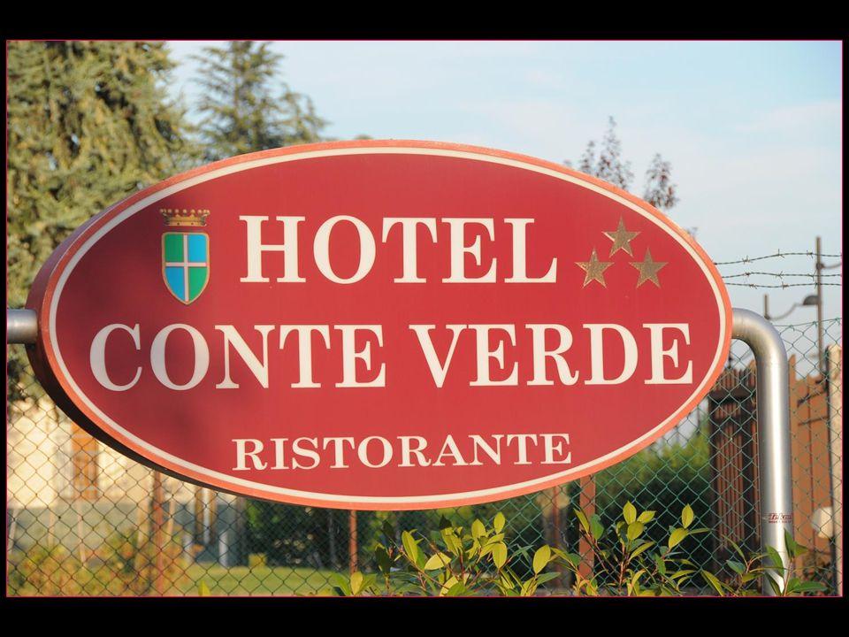 notre hôtel Conte Verde Comte Vert un peu à lécart donc super tranquille, avec grand parking, un bon hôtel avec chambres confortables et très bonne cuisine