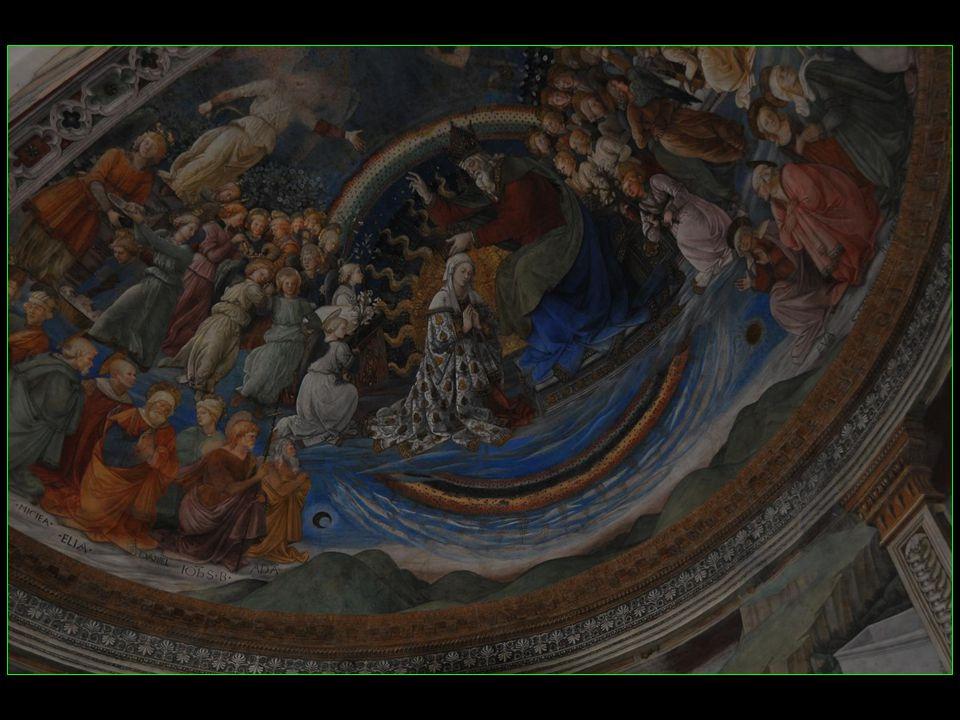 menacées par le projet du pape Urbain VIII dallonger le choeur, elles furent sauvées par la volonté des citadins qui ne voulaient pas perdre ces fresques