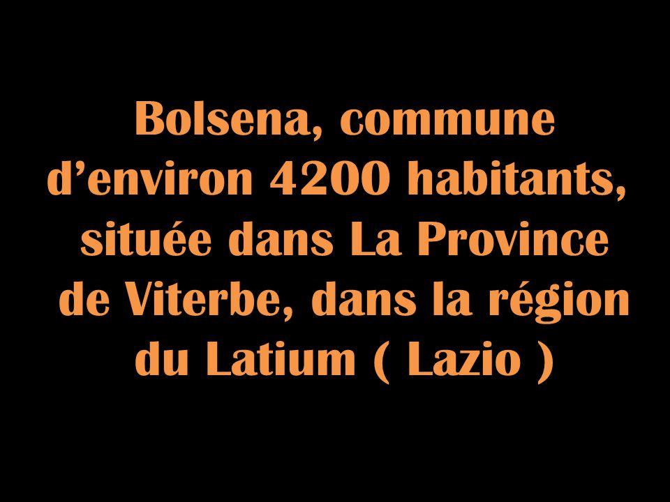 Bolsena, commune denviron 4200 habitants, située dans La Province de Viterbe, dans la région du Latium ( Lazio )
