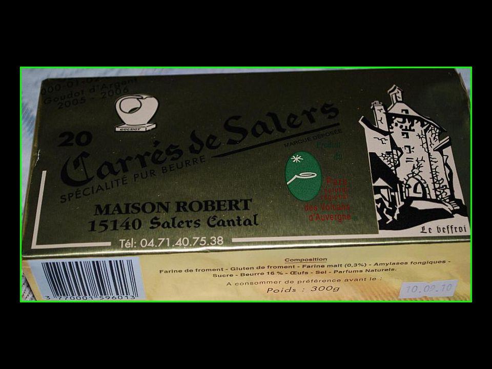 carrés pur beurre de Salers