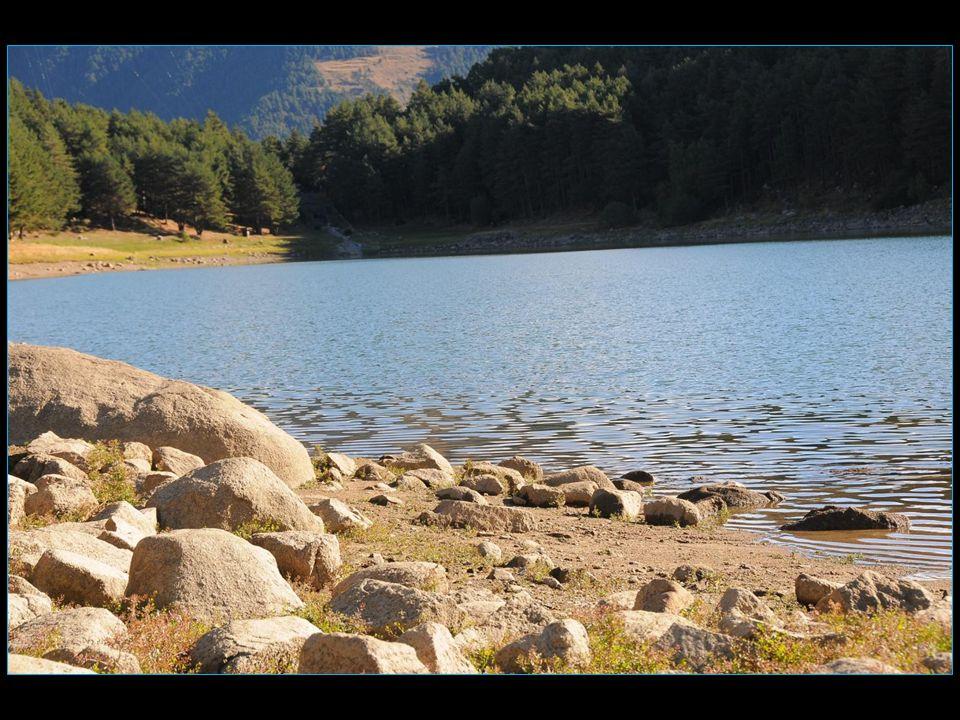 Le lac est entouré dépaisses forêts.