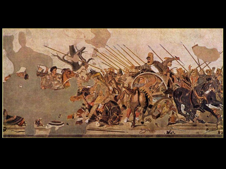 Une mosaïque splendide, découverte à lintérieur de la maison et original au musée de Naples, représente la victoire dAlexandre le Grand sur Darius le roi des Perses