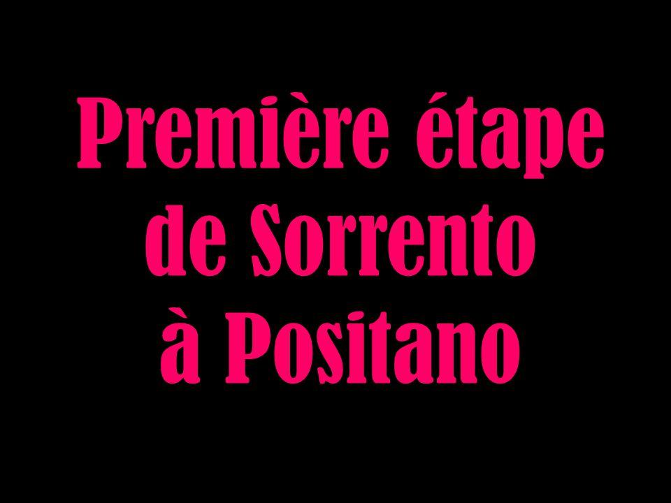Première étape de Sorrento à Positano