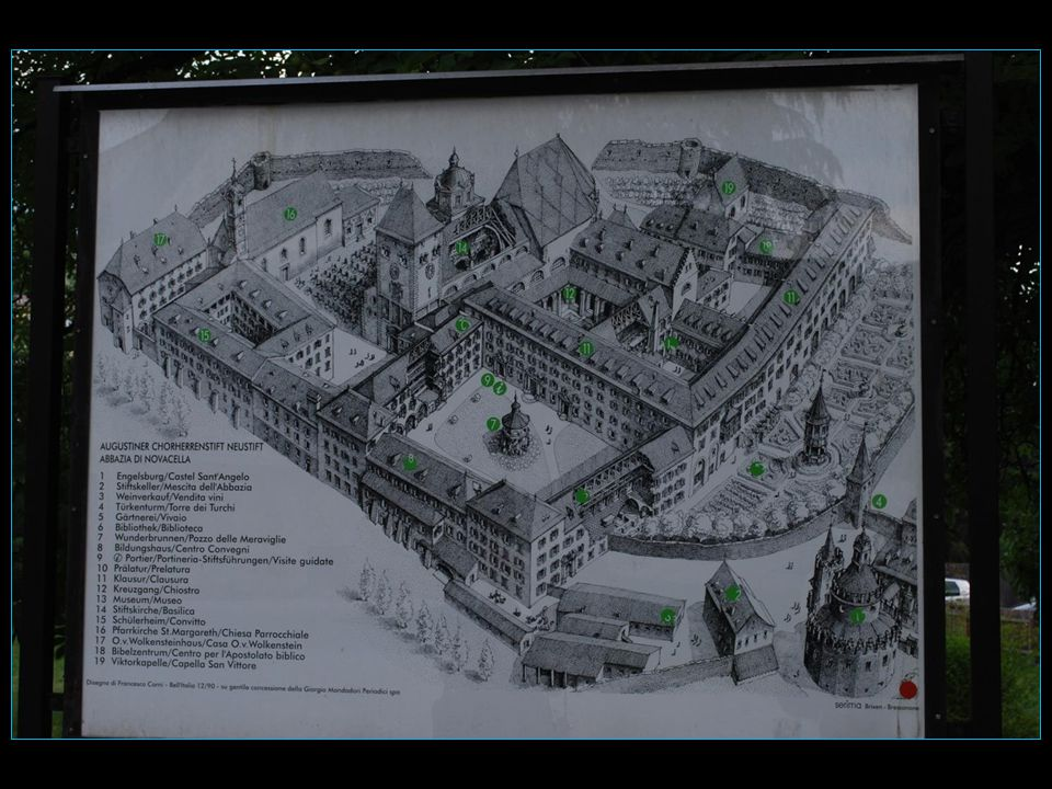 Lédifice de lAbbaye de Novacella construit dès 1142