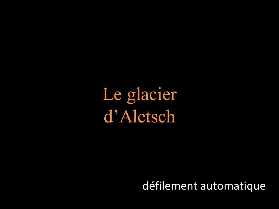 Le glacier dAletsch défilement automatique