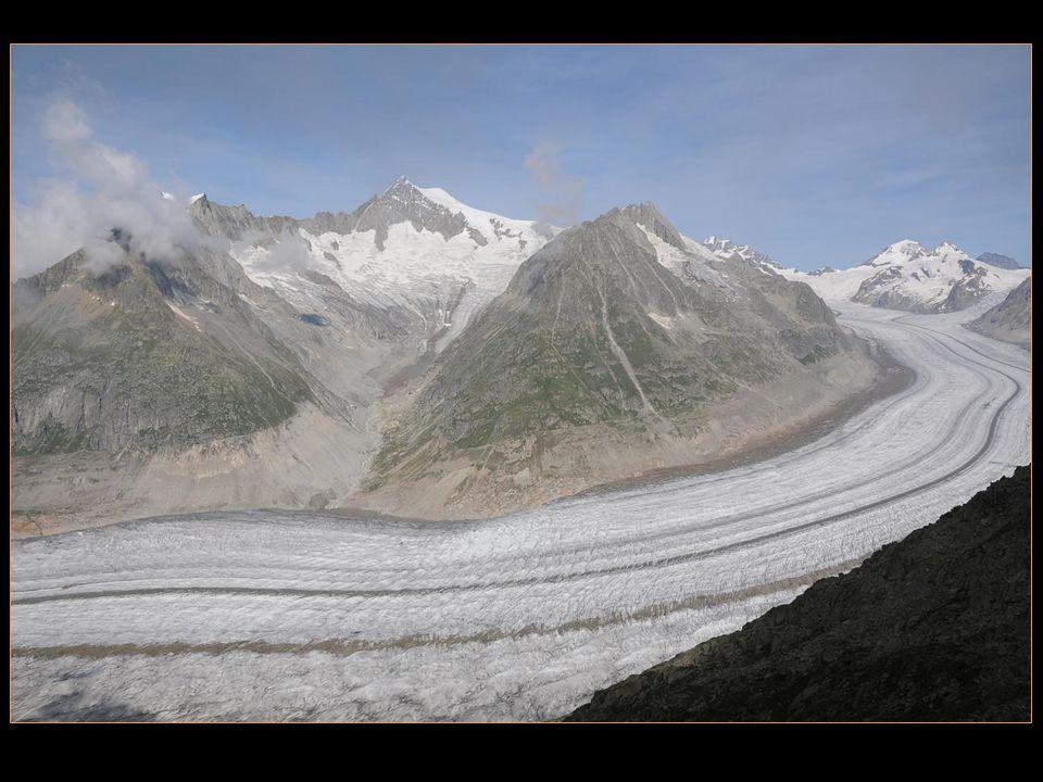 selon les mesures de 2001, sa longueur est de 23,6 km, pour une superficie de 117 km2 et une masse de 27 milliards de tonnes de glace
