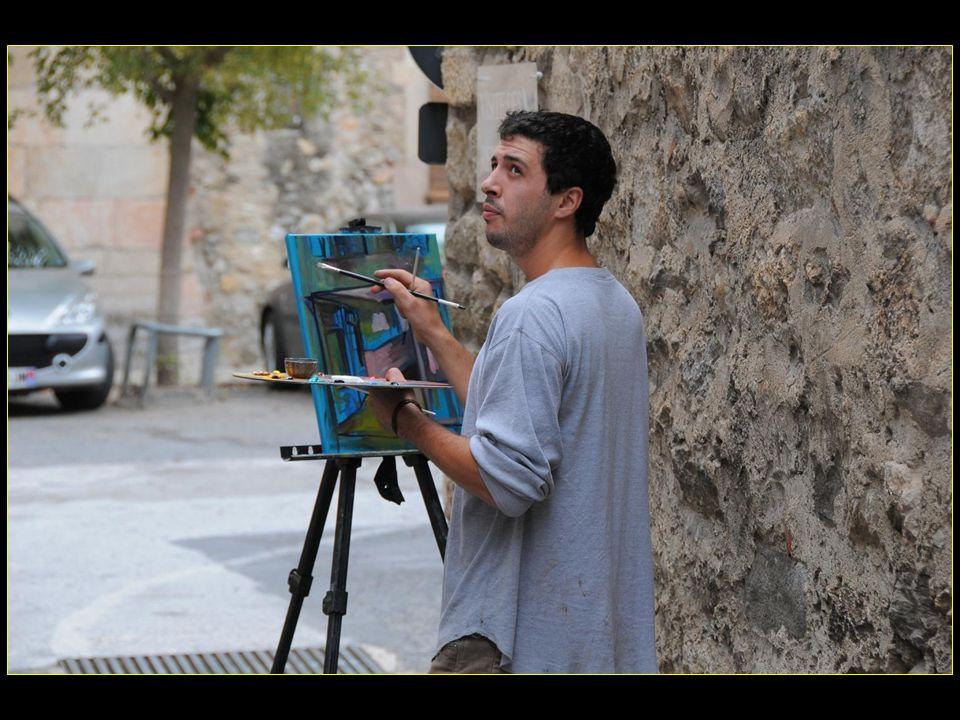 Le charme de Villefranche-de-Conflent inspire très fort les peintres
