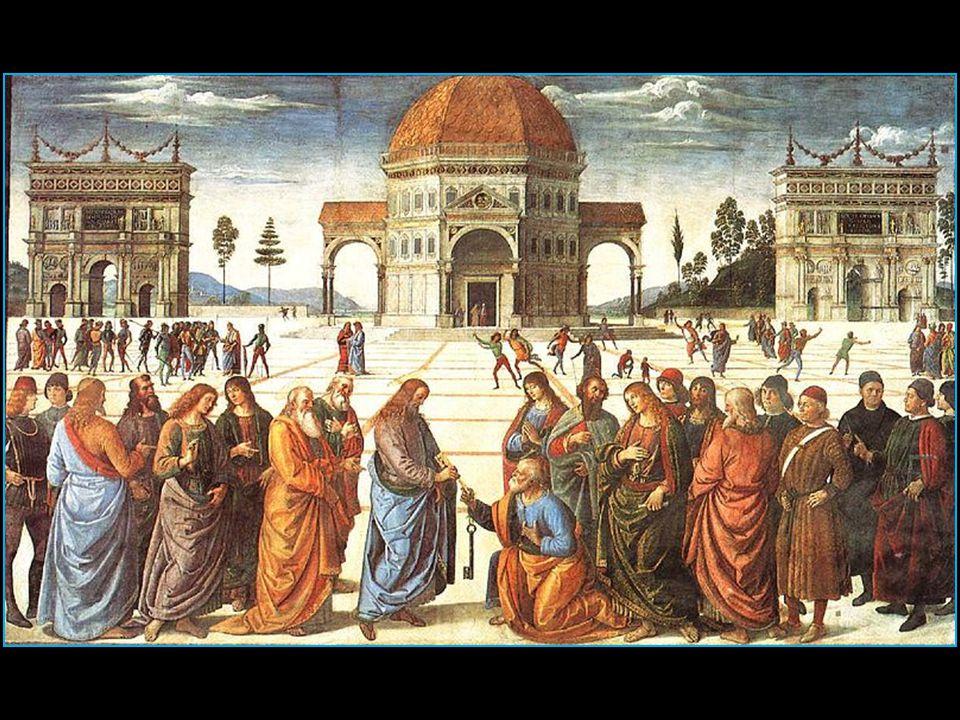 Remise des clefs à Saint-Pierre 1481 fresque à la chapelle Sixtine à Rome