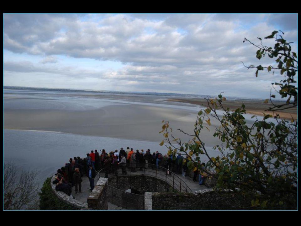 Sommes aux premières loges afin de voir arriver la marée haute