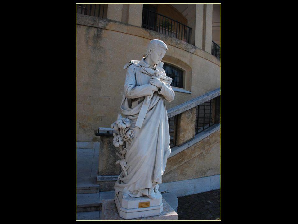 La statue de San Luigi Gonzaga ( di U. Zannoni – 1910 ) Provenienza : Primo santuario
