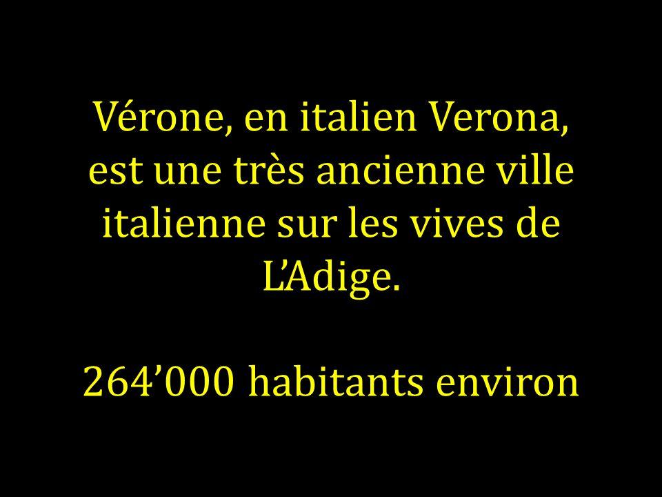 Vérone, en italien Verona, est une très ancienne ville italienne sur les vives de LAdige.