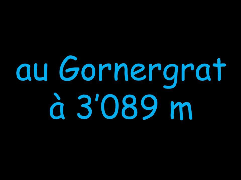 au Gornergrat à 3089 m