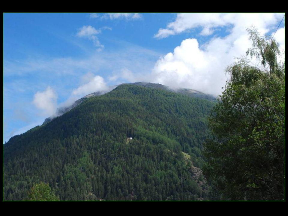 En face une Chapelle toute blanche perdue en milieu de forêt