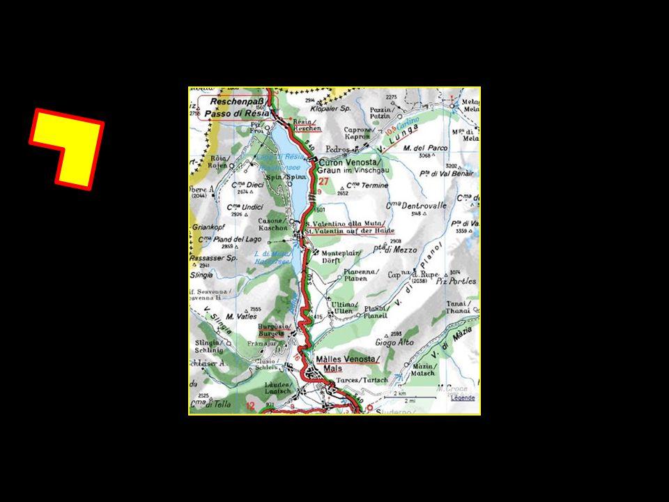 Le col de Resia Reschenpass en Allemand est situé à une altitude de 1504 mètres