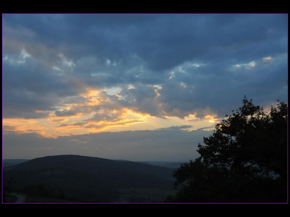 Coucher de soleil sur le Jura vaudois depuis Bavois le 31 octobre 2013