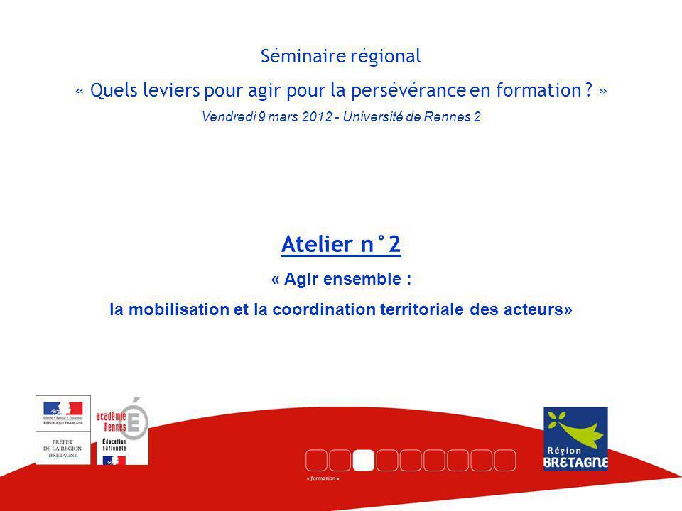 Séminaire régional « Quels leviers pour agir pour la persévérance en formation .