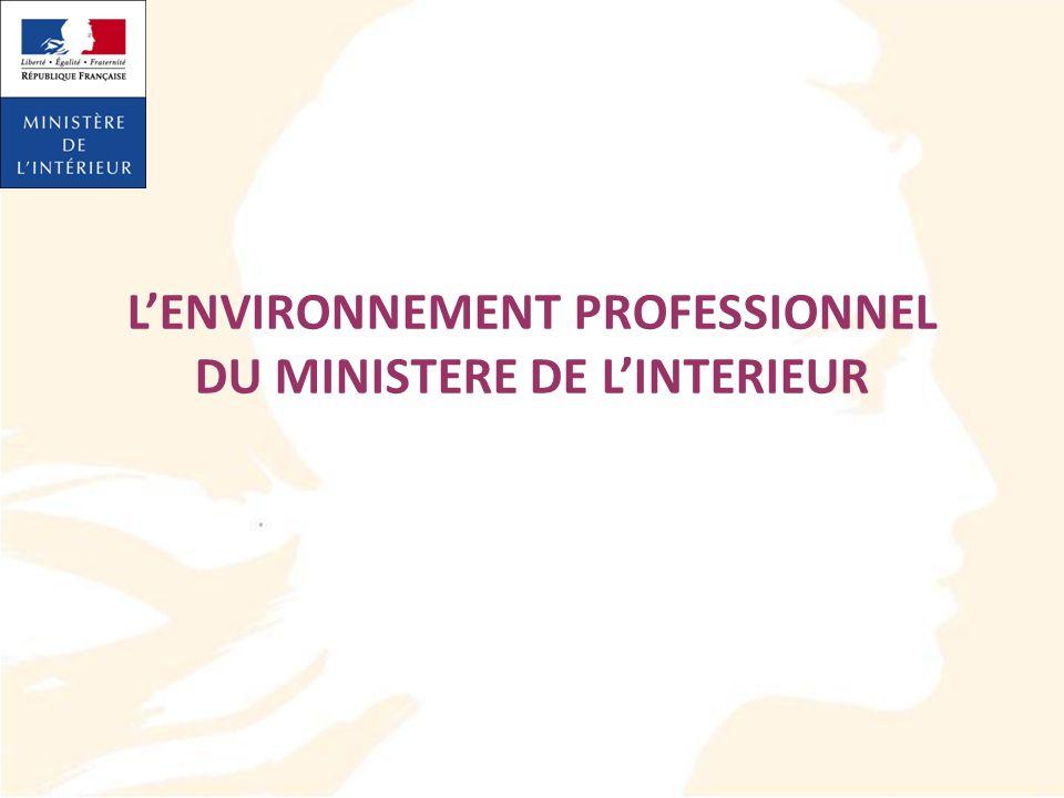 LENVIRONNEMENT PROFESSIONNEL DU MINISTERE DE LINTERIEUR
