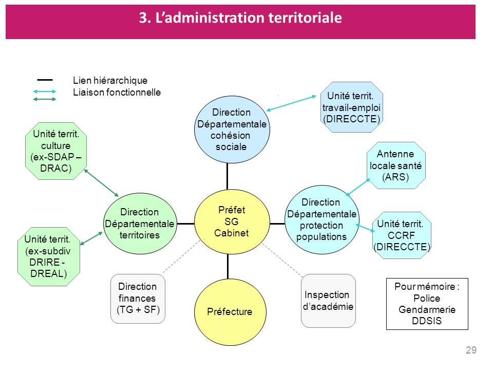 3. Ladministration territoriale Direction Départementale territoires Préfecture Direction Départementale protection populations Direction Départementa