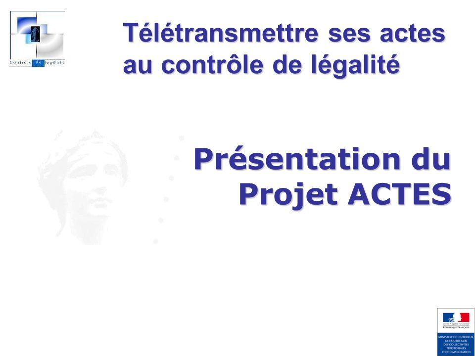 Direction de Projet ACTES Consulter les retours préfecture