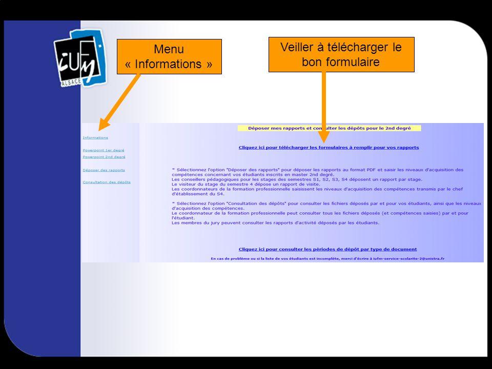 Menu « Edition des notes proposées » accessible seulement aux coordonnateurs de la formation professionnelle.
