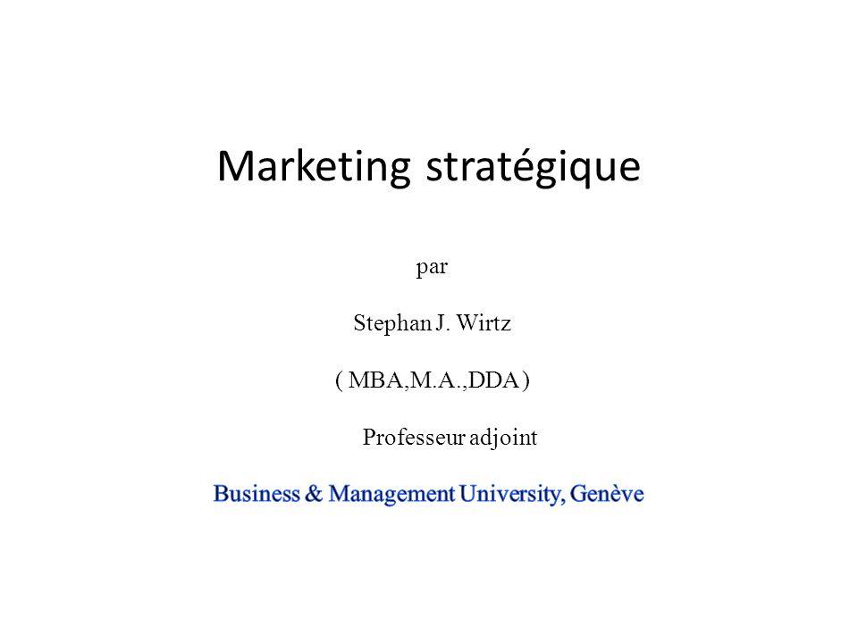 WIRTZ, BMU People Toute stratégie devait se définir du marché vers lintérieur de lentreprise Personnel Production Processus Expérience du client Comportement du client Objectif commercial avec client Quest-ce que sont les objectifs stratégique/fi nancière.
