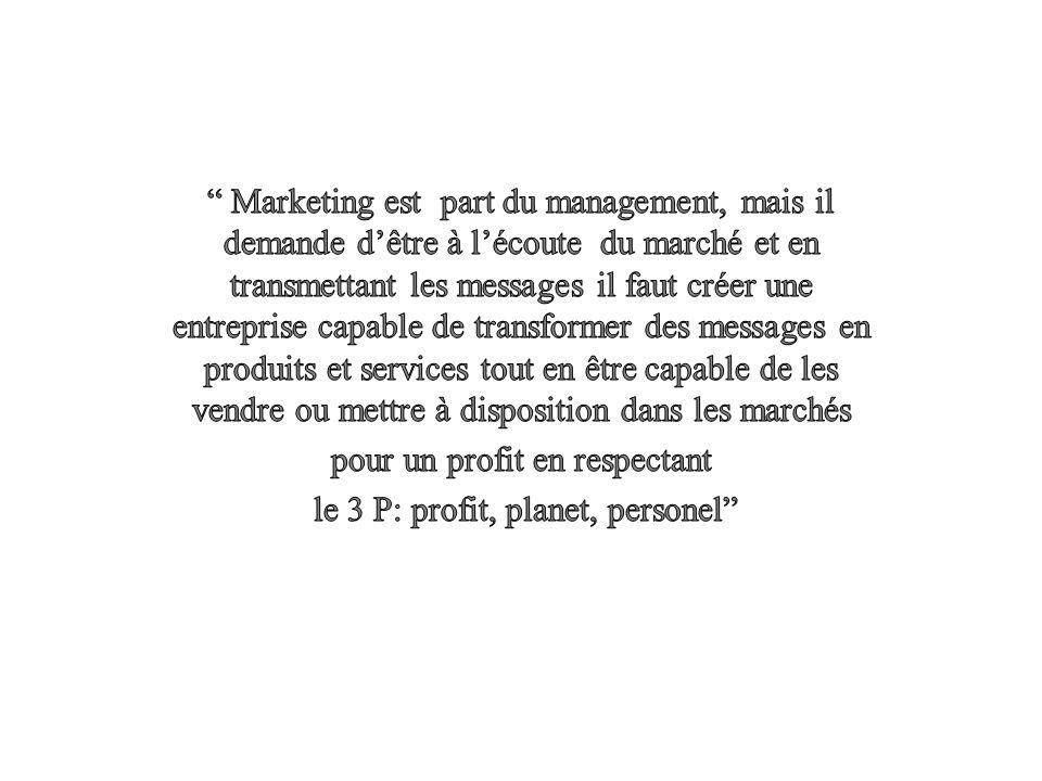 Wirtz 09 ….les segments de marché ( issus de la segmentation marketing ) sont constitués de consommateurs uniquement.