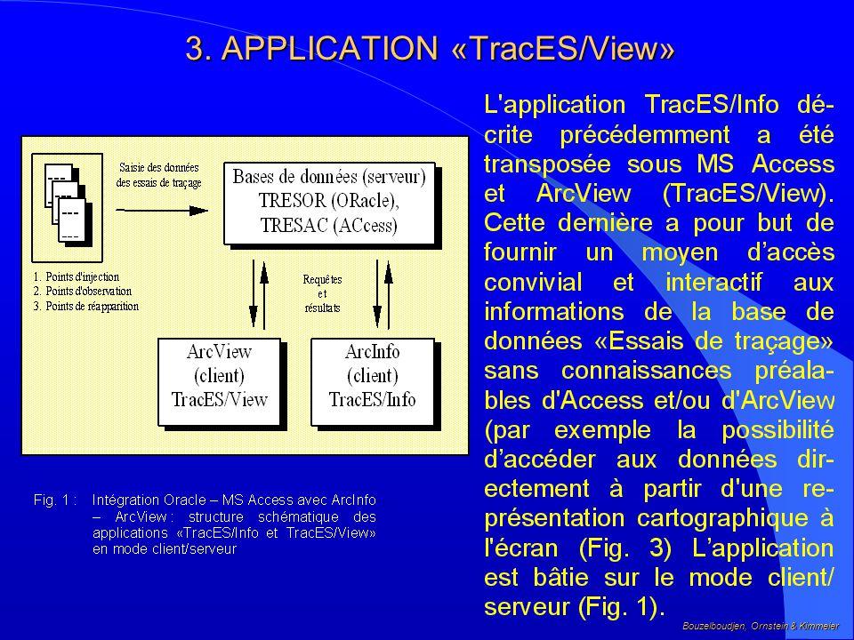 2.2 Intégration base de données TRESOR et Système dInformation Géographique Arc/Info Bouzelboudjen, Ornstein & Kimmeier