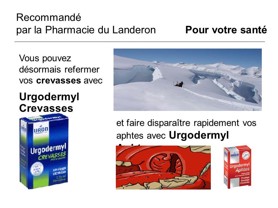 Recommandé par la Pharmacie du Landeron Pour votre santé et faire disparaître rapidement vos aphtes avec Urgodermyl Aphtes Vous pouvez désormais refer