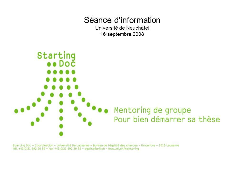 Séance dinformation Université de Neuchâtel 16 septembre 2008