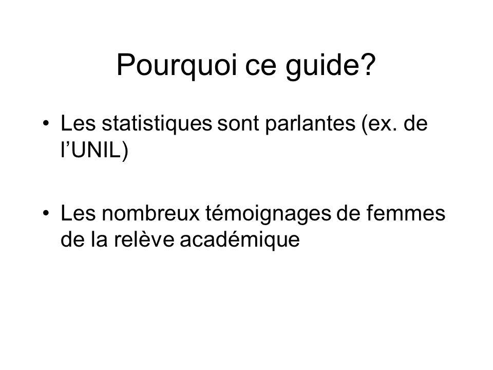 Pourquoi ce guide. Les statistiques sont parlantes (ex.