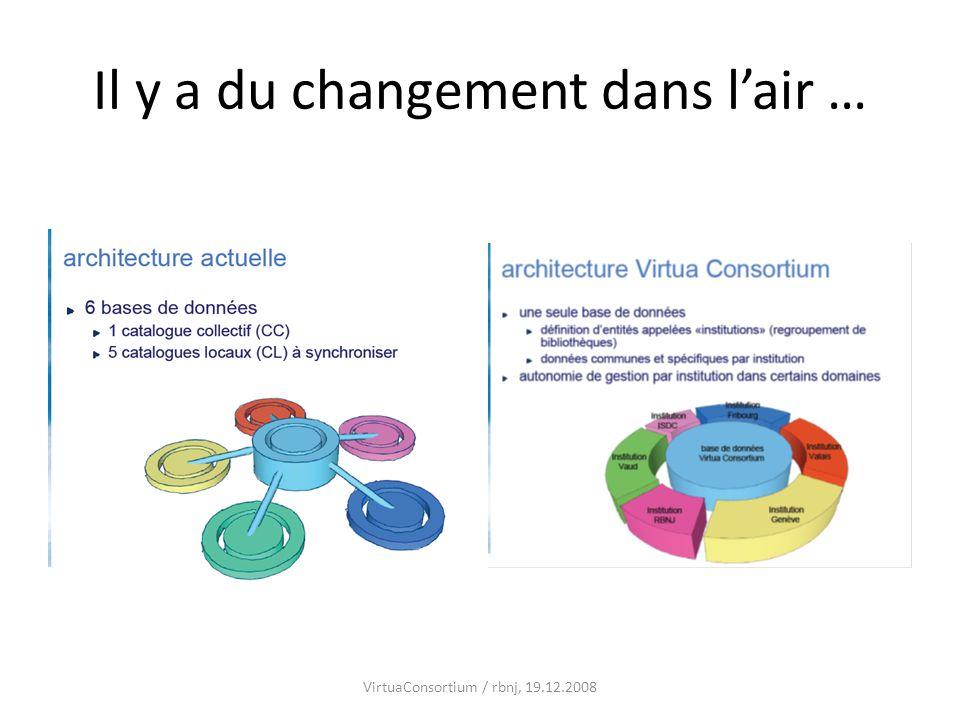 Il y a du changement dans lair … VirtuaConsortium / rbnj, 19.12.2008