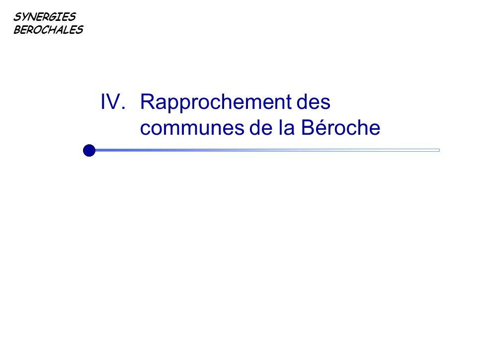 SYNERGIES BEROCHALES IV. Rapprochement des communes de la Béroche